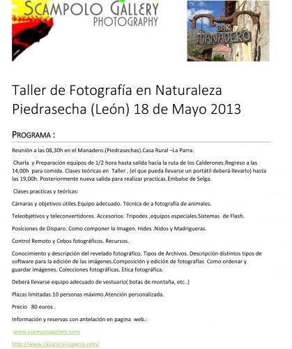 Taller de fotografía en Naturaleza Piedrasecha