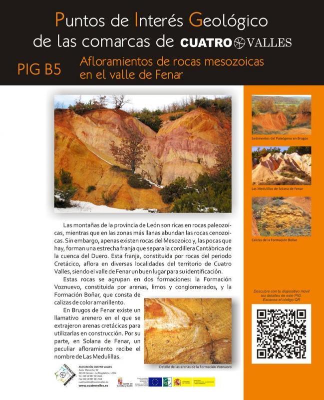 Afloramientos de rocas mesozoicas en el valle de Fenar