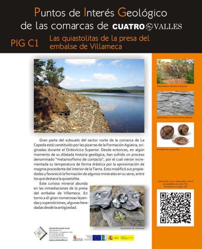 Las quiastolitas de la presa del embalse de Villameca